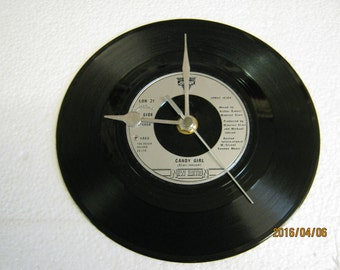 "New Edition - ""Candy Girl"" Record Clock"