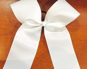 Plain White Cheer Bow