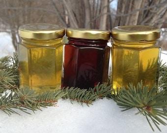 Pure raw honey ~ 3 pack variety