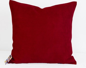 Red Pillow Cover,   Microfiber Pillow Cover in Tomato Red,