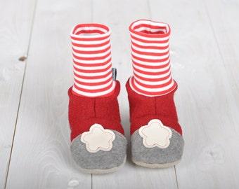 Slippers for babies, slippers, Baby Slippers, baby booties, SchuhefürTraglinge, kids slippers, Burel, slippers made of wool felt, footwear, kids slippers,