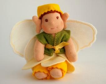 Waldorf bendy doll - Daffodil fairy doll