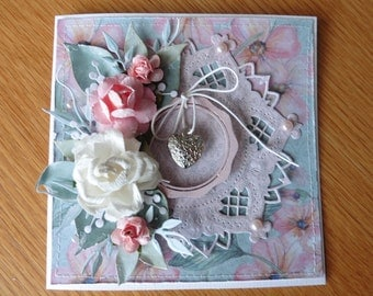 Card shabby chic