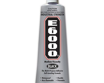 Black E6000 3.7 oz Glue Ideal for bonding wood, fabric, leather, ceramic, glass, metal and more