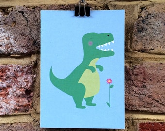 T-rex greetings card