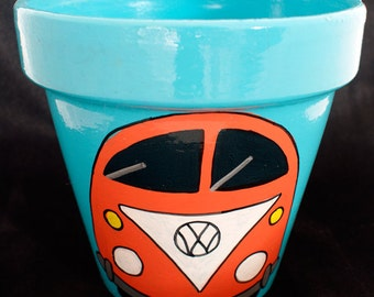 Orange Campervan Pot