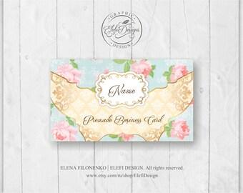 Premade Vintage Roses Business Card Design