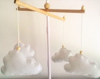baby mobile- fluffy white clouds