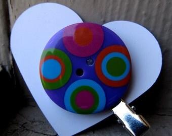 Four Circles Button Hair Clip