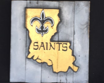New Orleans Saints-The Saints-Football-NFL-Saints Souvenir-New Orleans-Wood Art-Pallet Art