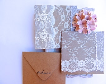 Lace Wedding Card, Card For Bride, Vintage Wedding Card, Handmade Wedding  Card , Bridal Shower Card