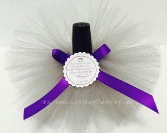 Set of 10 Baby Shower Nail Polish Tutus with Custom Labels