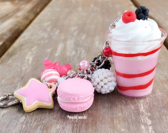 Strawberry sundae bag charm