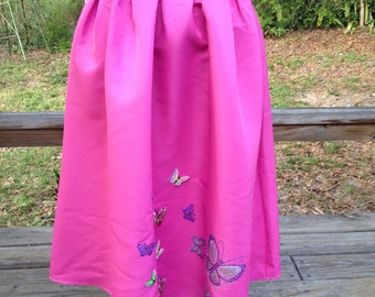 Pink pleat butterfly skirt