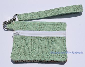 Aqua and Biege 'Maybole' Wallet, Women's wallet,  handmade purse, small wallet