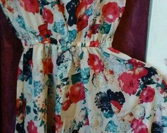 adorable flower print dress