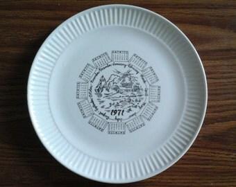 1971 Plate, Birth Year Plate, Anniversary Plate