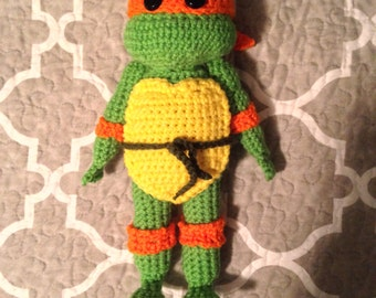 Hand Crochet Teenage Mutant Ninja Turtle Amigurumi
