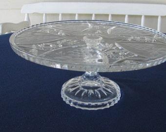 Crystal Pedestal Cakeplate