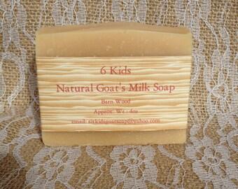 Handmade Goat's Milk Soap - Barnwood