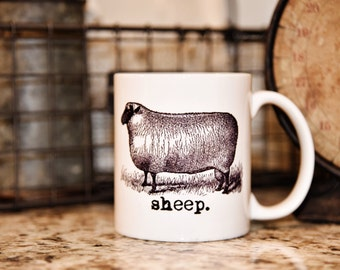 SHEEP FARM ANIMAL Coffee Mug - The Farmhouse Collection