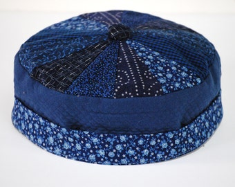 Shades of dark blue Bodhi hat #122 available in size L