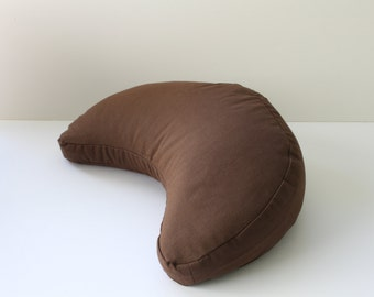 Crescent Buckwheat Zafu Meditation Cushion - Brown