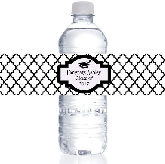 Custom Graduation Water Bottle Labels-Personalized