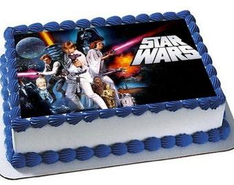 Star Wars Cake Topper, Star Wars Birthday Party, Star Wars Frosting Sheet, Star Wars Cupcake Topper