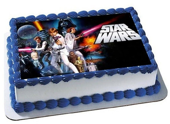 Star Wars Birthday Party Edible Image Cake Toppers ...
