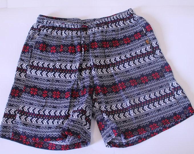 Khushi Shorts - Red Aztec