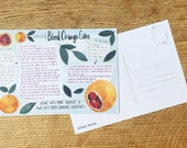 Recipe Card, 'Blood Orange Cake'