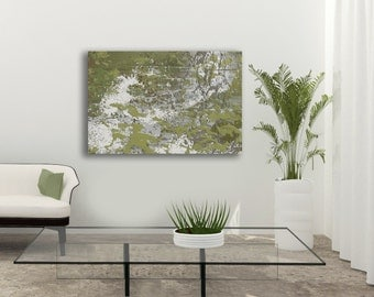 Abstract Green Canvas Original Print, Single Canvas Available, 24x18, 30x20, 36x24, 48x32