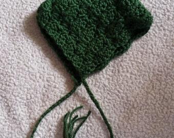 Crochet infant Pixie Bonnet