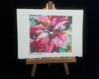 Poinsettia Watercolor greeting card