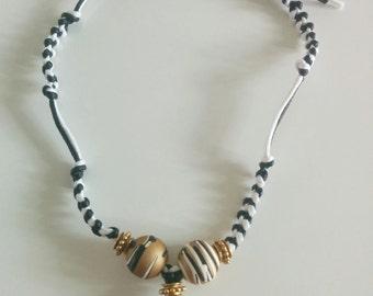 Black n white necklace