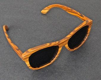 Zebrawood sunglasses.