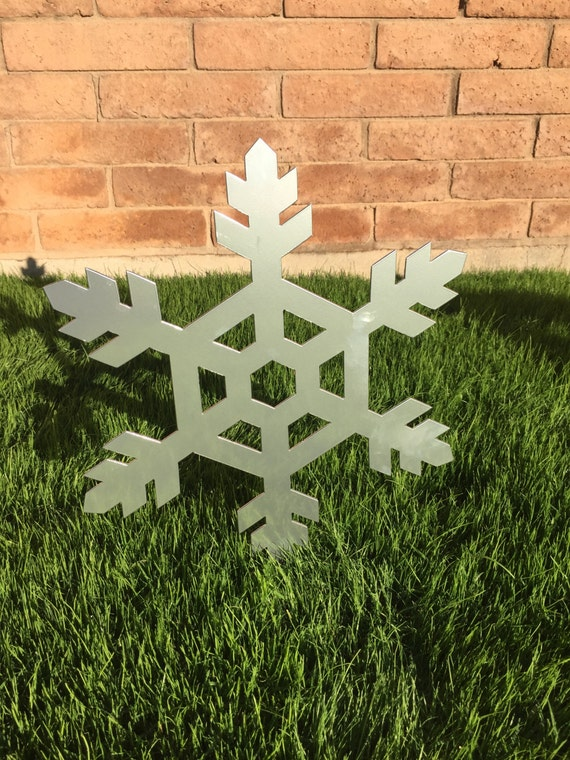 snowflake 07 metal yard art christmas decor lawn decor. Black Bedroom Furniture Sets. Home Design Ideas