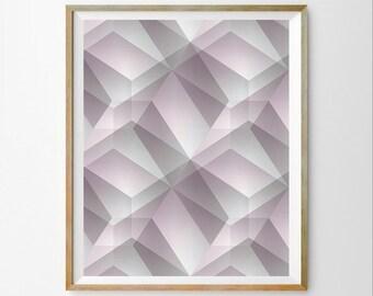 Minimalist art decor 3D wall art decor Geometric wall art decor Geometric art printable Geometric download Contemporary art decor