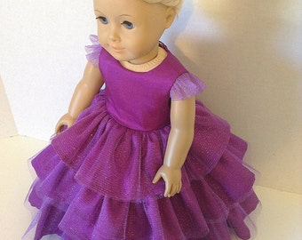 18 Inch Doll Clothes, Retro -Circa 1957, Floor Length, Formal Ball Gown or Party Dress **Not currently in stock --Please pre-order**