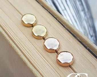 Fine 9ct Gold 7mm Button Stud Earrings in Yellow or Rose