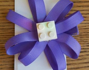 Lego flower clip