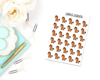 Horse/Domestic Animal Care Planner Stickers