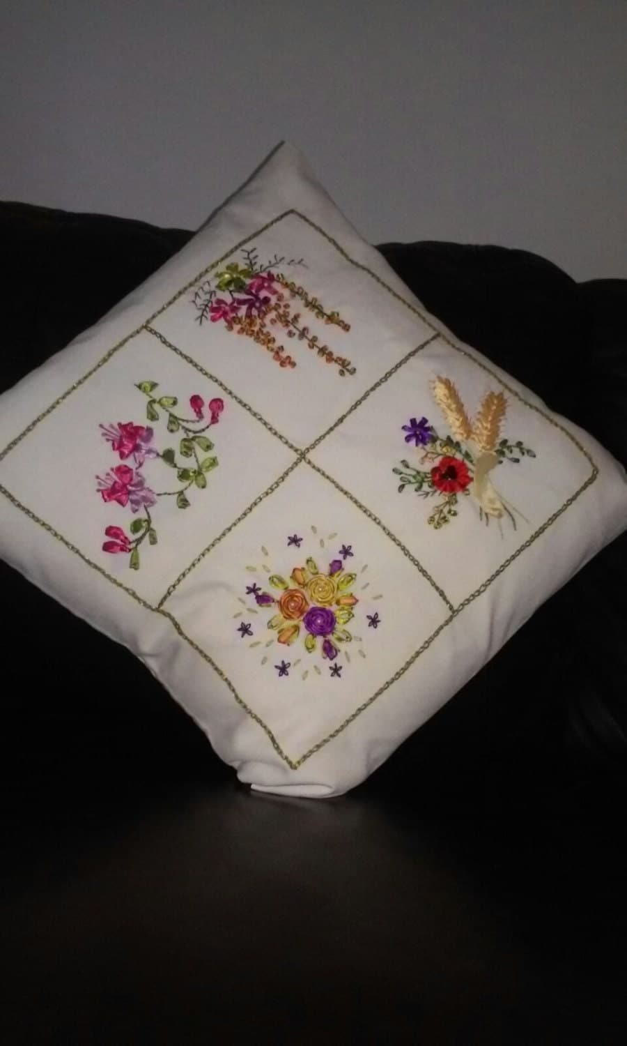 Pillow slip ribbon embroidery specialty by eygem on