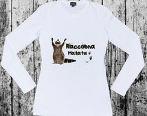 Raccoona Matata long sleeve T-shirt
