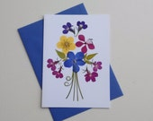 UK Pressed Flower Card
