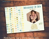 INSTANT DOWNLOAD -  Mother's Day Mini Session template - Photoshop Templates