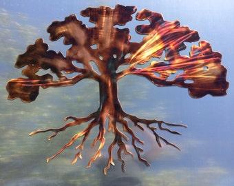 Metal Wall Art Plasma Cut Tree Silhouette Home Decor