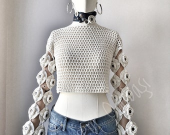 Cotton crochet top,summer clothing,gift for women's