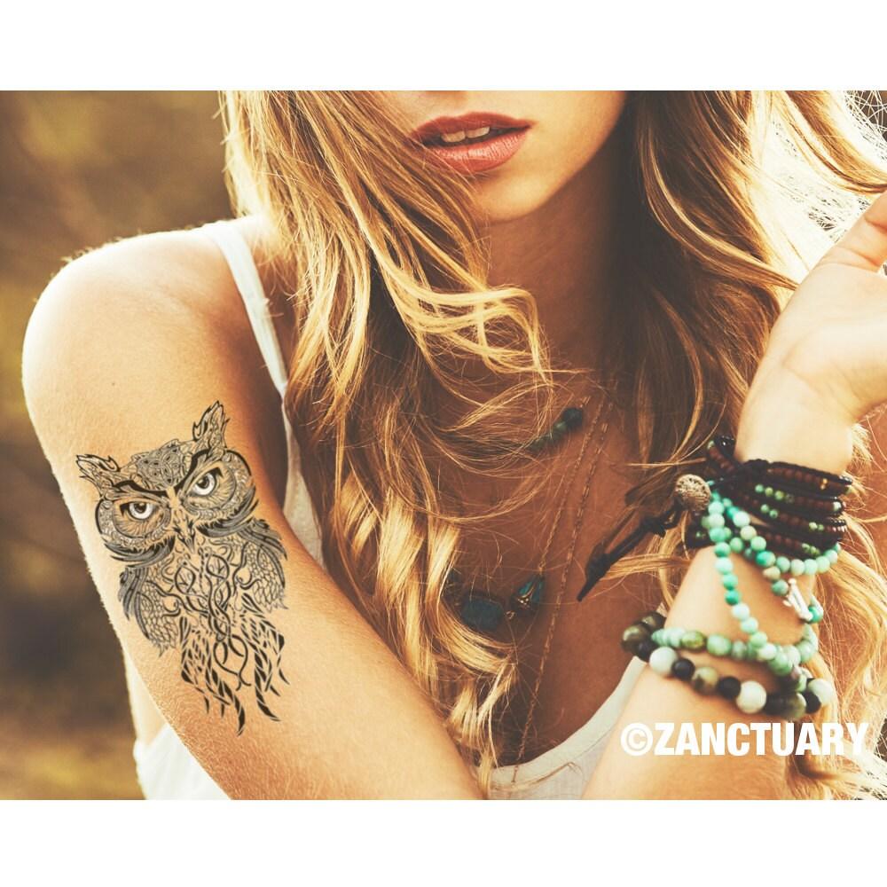 uil tatouage owl tattoo owl henna tattoo tribal owl tattoo. Black Bedroom Furniture Sets. Home Design Ideas